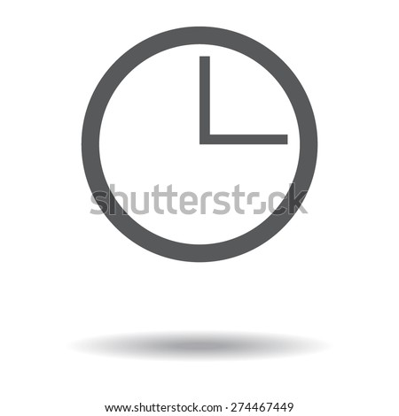 gray vector clocks icons with shadow