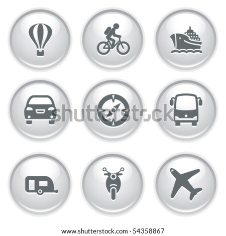Gray web buttons 20 - stock vector