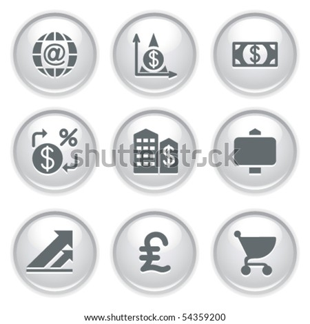 Gray web buttons 23 - stock vector