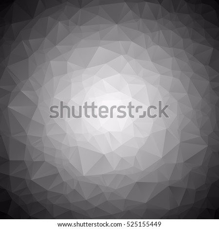 Gray White Gradient Polygonal Background