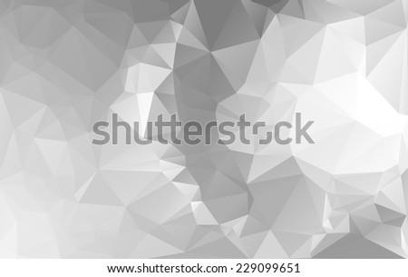 Gray White Light Polygonal Mosaic Background, Vector illustration,  Business Design Templates - stock vector