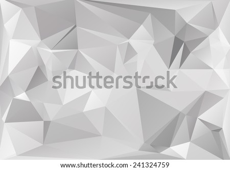 Gray White  Polygonal Mosaic Background, Vector illustration,  Creative  Business Design Templates  - stock vector