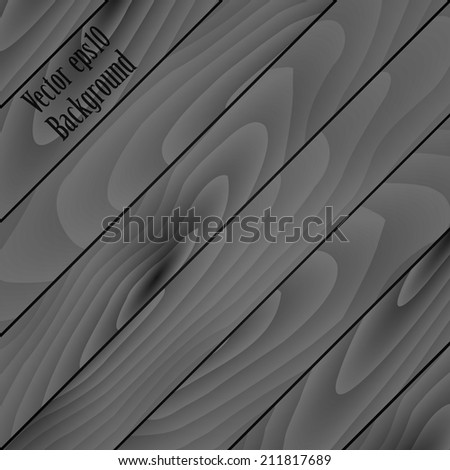gray wooden texture background of the diagonal planks. vector illustration eps10