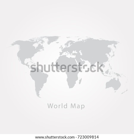 Gray world map vector illustration stock vector 723009814 gray world map vector illustration sciox Choice Image