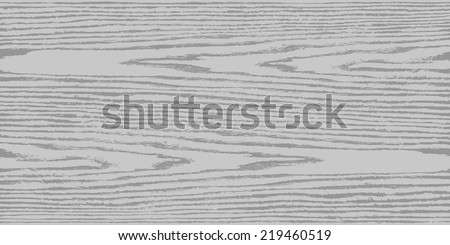Grayscale wood texture background in horizontal format. Realistic plank with annual years circles. Natural pattern swatch template in flat style. Design elements save in vector illustration 8 eps - stock vector