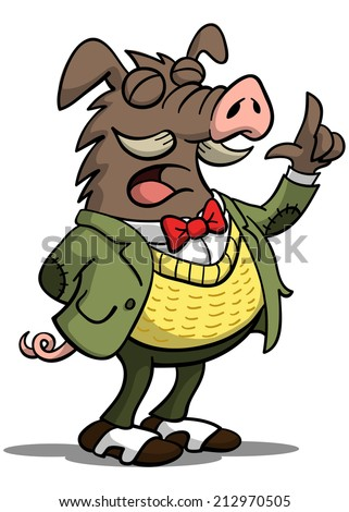 Great Boar - stock vector