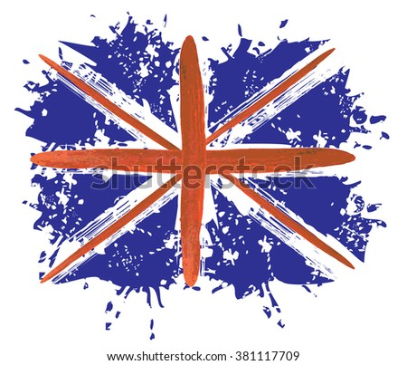 Great Britain grunge flag, United Kingdom (UK) - abstract grunge vector illustration