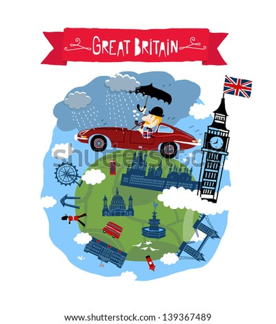 Great Britain icon - stock vector