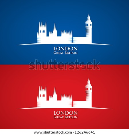 Great Britain Parliament symbol - vector illustration