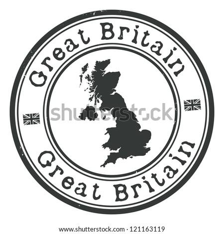 Great Britain stamp - stock vector