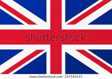 Great Britain, United Kingdom flag - stock vector