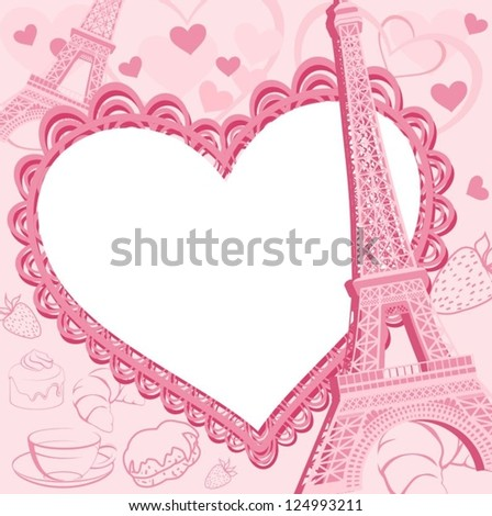 Great card for Valentine's Day - stock vector