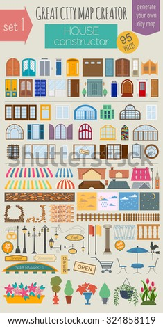 Shop house stock images royalty free images vectors for House map creator