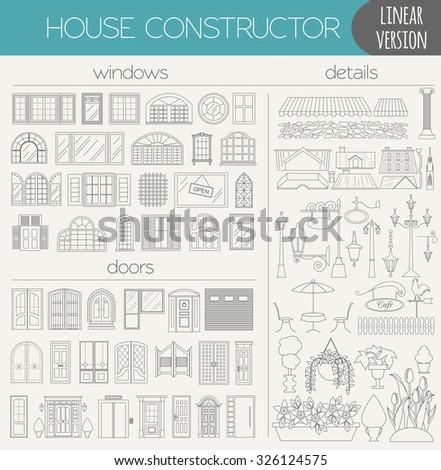 Townhouse stock vectors vector clip art shutterstock for House map creator