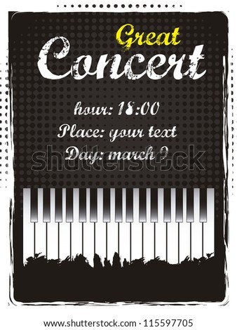 great concert announcement, vintage style. vector illustration - stock vector