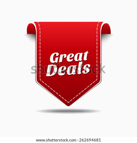 Great Deals Red Vector Icon Design