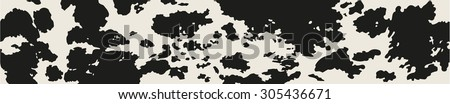 Great horizontally seamless vector background with Cow skin