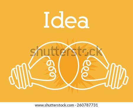 Great idea design - stock vector