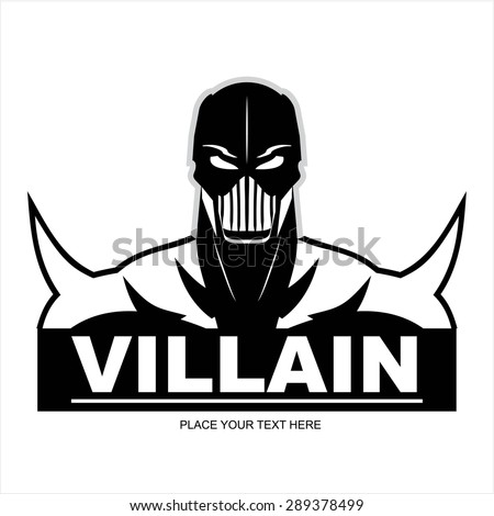 Great Villain in black and white - stock vector