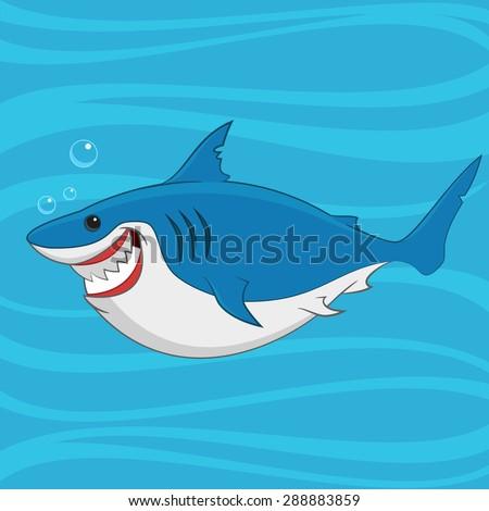 great white shark. Vector illustration. - stock vector