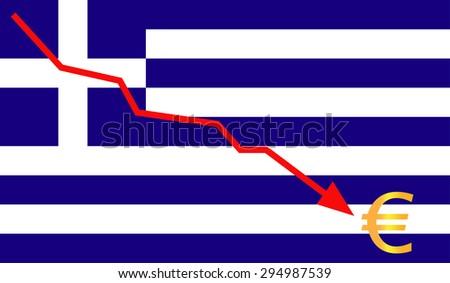 greece , economic crisis - stock vector