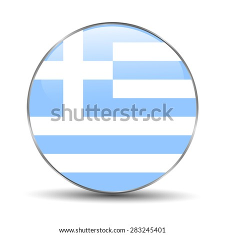 Greece Flag Icon  - stock vector