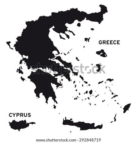 Greece map vector - stock vector