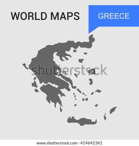 Greece Map vector. country border map. - stock vector