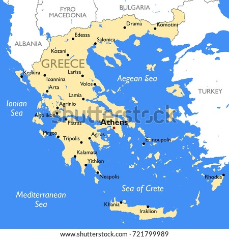 Greece map stock images royalty free images vectors shutterstock greece map vector detailed color greece map gumiabroncs Images