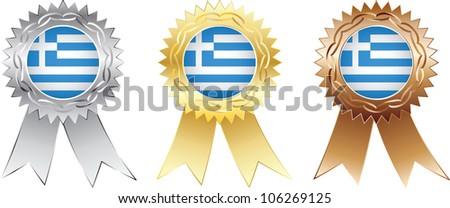 greece medals - stock vector