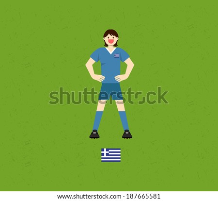 Greece Soccer Tables - stock vector