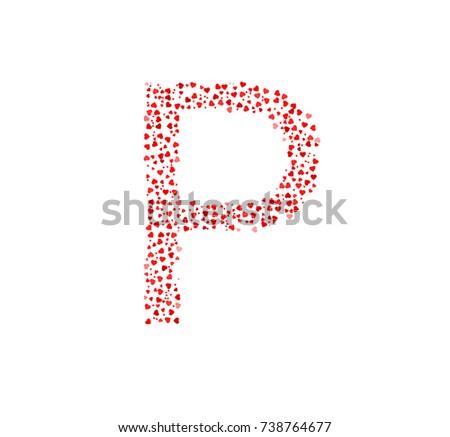 Greek Capital Letter Rho Stock Vector 738764677 Shutterstock