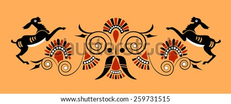 Greek colored ornament. vector - stock vector
