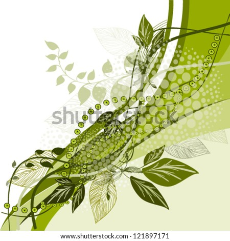 green abstract - stock vector