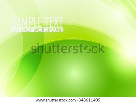 Green abstract background illustration. Template for business card or banner