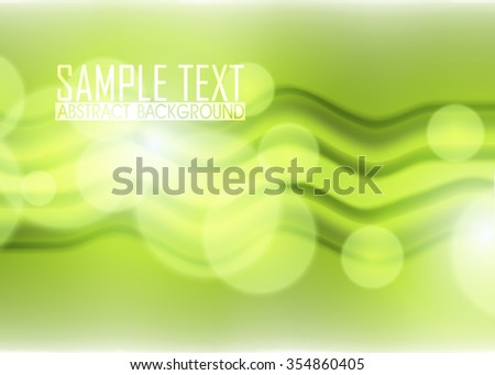 Green abstract background illustration. Template for business card or banner.