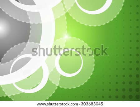Green abstract background technology