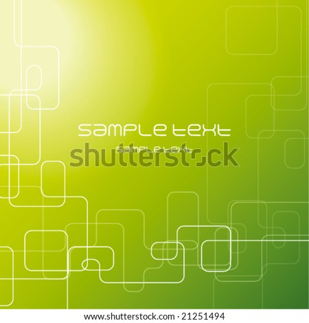 Green abstract background texture - trendy business template with copy space Contemporary texture - stock vector