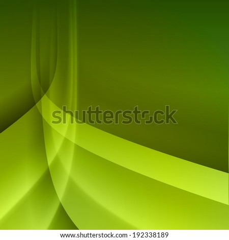 Green abstract background with light lines and shadows.
