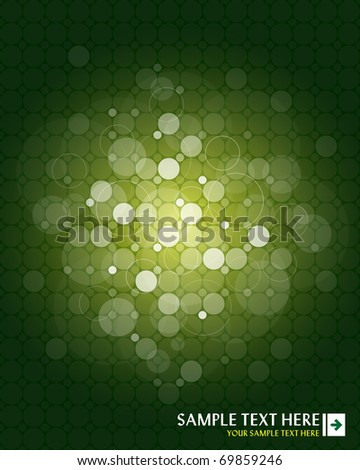 Green abstract background with place for your text - stock vector