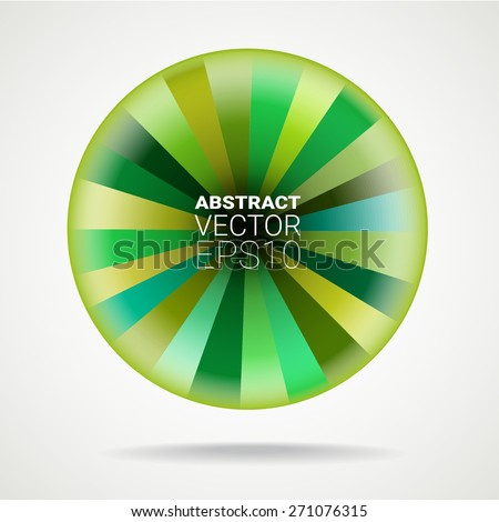 Green abstract element with place for your text.  Vector illustration for graphic design. - stock vector