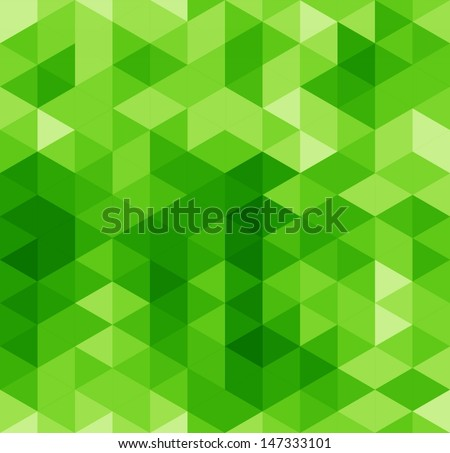 Green abstract geometrical seamless pattern. Vector background  - stock vector