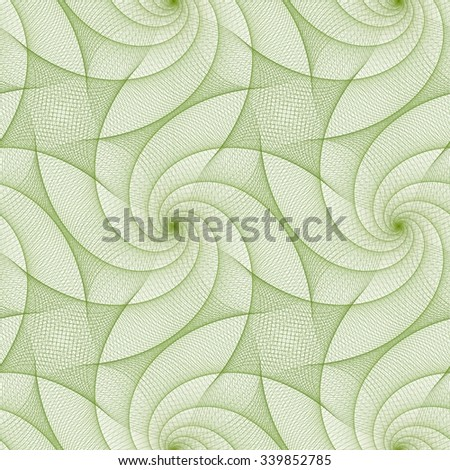 Green abstract repeating fractal line pattern design - stock vector