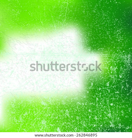 Green Abstract Spring Background with Scratch Grunge Distress Dust Crack Overlay Texture - Blurred Modern Textured Background with Light Effects for Flyer Brochure Magazine Cover Leaflet Web Design . - stock vector