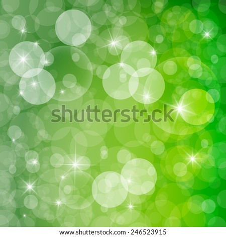 Green Abstract Spring Defocused Blurred Background