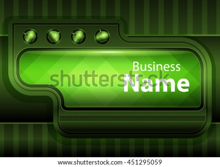 Green abstract template for card or banner. Metal Background with waves and reflections. Business background, silver, illustration. Illustration of abstract background with a metallic element - stock vector