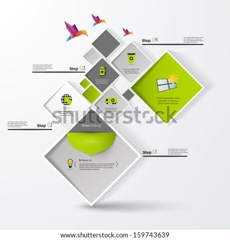 green abstract web design  - stock vector