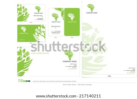 Green Africa Stationary - stock vector