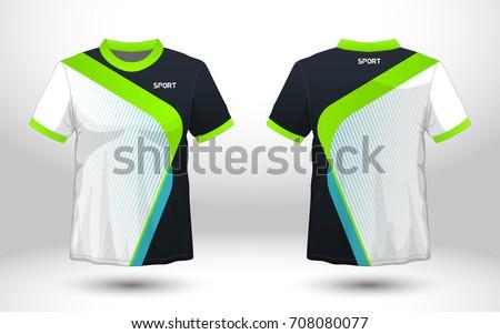 Green black layout football sport tshirt stock vector for Design t shirt sport