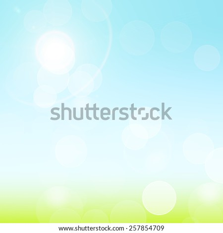 green and blue bokeh abstract light vector background - stock vector